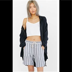 One Teaspoon journal striped slouchy shorts